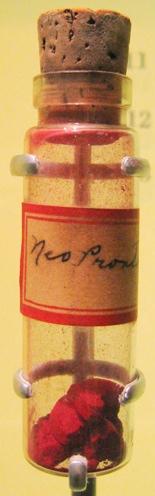 Небольшой образец ярко-красного Пронтозила
